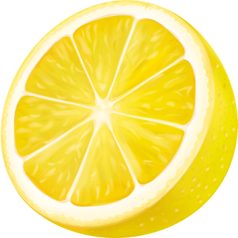 A Sliced Lemon Wedge