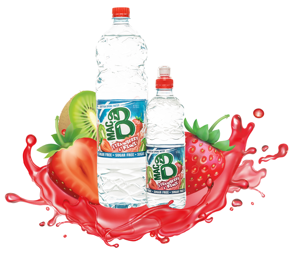 Our Bottle of Strawberry and Kiwi Flavoured Spring Water